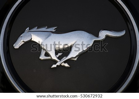 FARO PORTUGAL - AUGUST 27 2016 Close up view of the Ford Mustang & Ford Logo Stock Images Royalty-Free Images u0026 Vectors | Shutterstock markmcfarlin.com