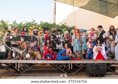 FARO, PORTUGAL - August 22: Manga & Comic Event, gathers many fans of these genres, including anime shows, cosplayers, gamers, concerts, board games, workshops and contests, among several other stuff.