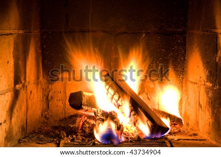 fascinating home fire - stock photo