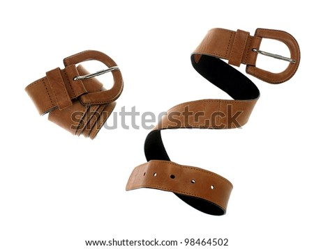 Fashion accessories isolated against a white background - stock photo