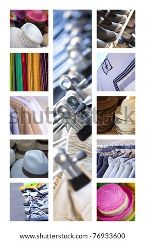Fashion and accessories collage - stock photo
