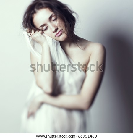 Fashion-art photo of young beautiful gentle lady