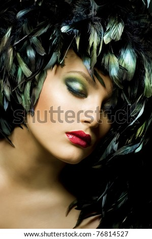 Fashion Art Portrait - stock photo