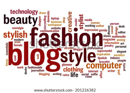 Fashion blog concept word cloud background - stock photo