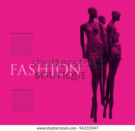 Fashion boutique background - stock photo