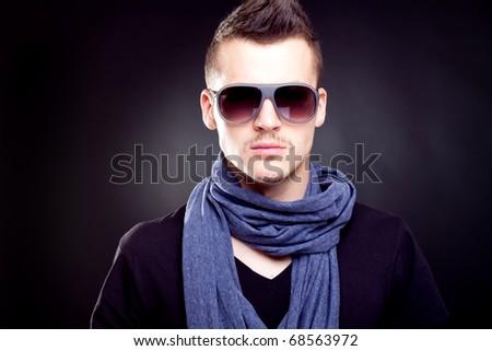 Fashion boy in sunglasses - stock photo