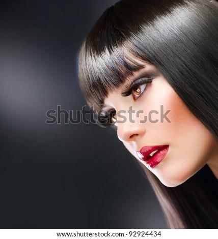 Fashion Brunette - stock photo