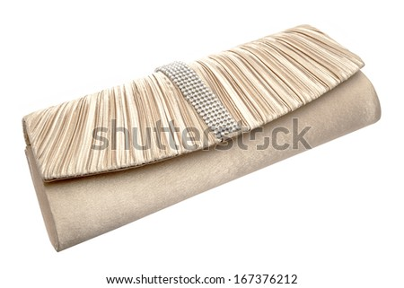 fashion clutch bag isolated  on white background  - stock photo