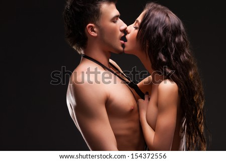 Fashion Couple, Dramatic image shot - stock photo