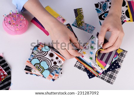 Fashion design, close-up - stock photo