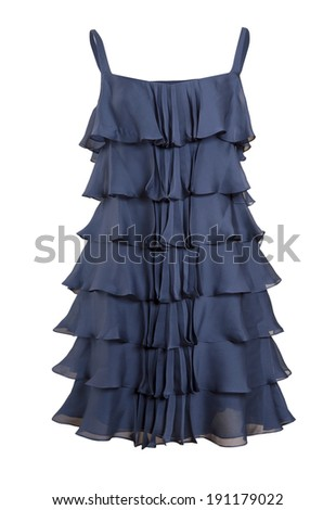 fashion dress isolated on white - stock photo