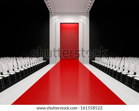Empty Fashion Runway Stock Snimky Pro Cleny Zdarma A