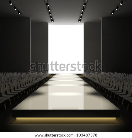 empty fashion show runway stage wwwpixsharkcom