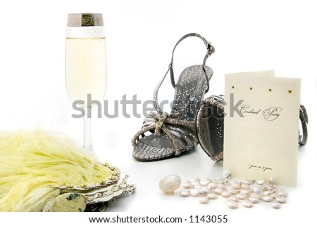 Fashion essentials for a night out. - stock photo