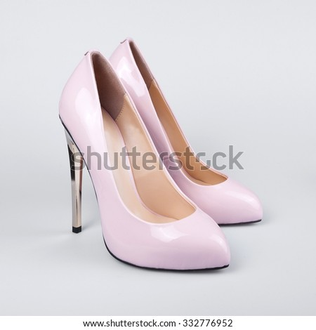 Fashion female shoes over white