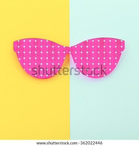 Fashion Funny Sunglasses. Summer, Pandas, Pineapples. Vanilla style - stock photo