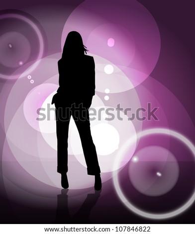 Fashion girl - stock photo