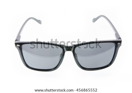 Fashion glasses style plastic-framed isolated on white background, sunglasses