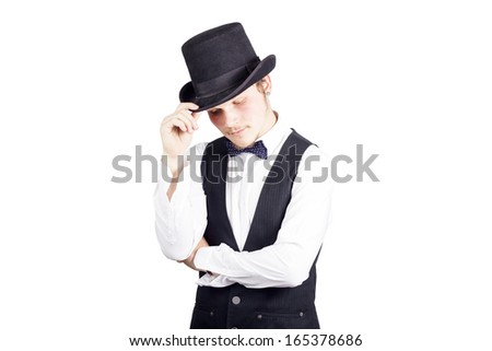 Fashion guy with hat