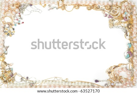 Fashion jewelry framework, isolated on white background - stock photo