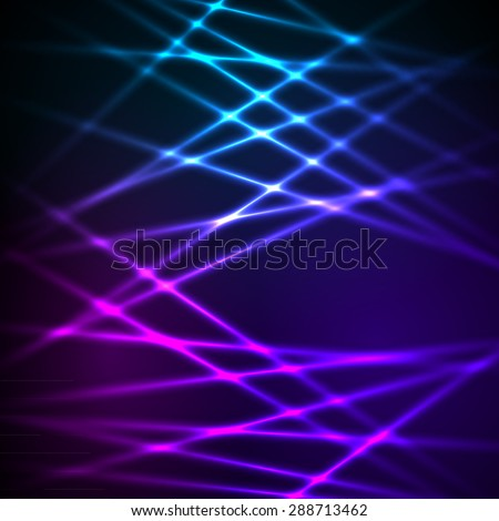 Fashion lights background of bright glowing blur lines, illustration. Futuristic style glow neon disco club or night party. Gorgeous graphic image template - stock photo