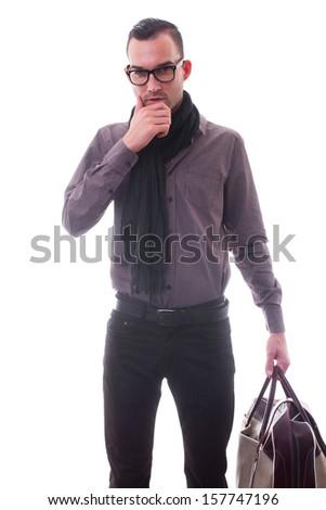 fashion man - isolated - stock photo