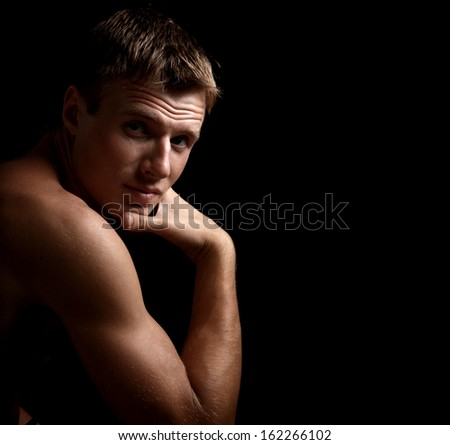 Fashion man looking at camera with confidence - stock photo