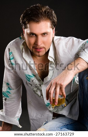 fashion man with drink