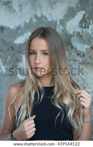 Fashion model portrait - stock photo