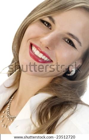 Fashion Model with Million Dollar Smile. - stock photo