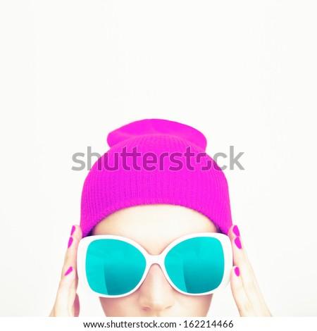 Fashion party girl - stock photo