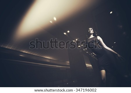 Fashion photo of young magnificent woman. Girl posing.  - stock photo