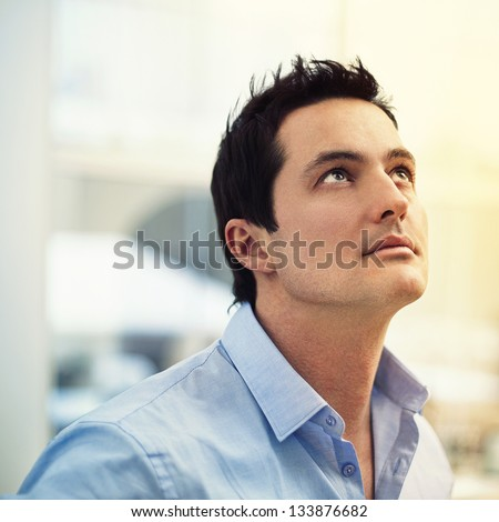 Fashion portrait, Elegant young handsome man - stock photo