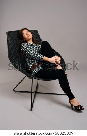 Fashion portrait of a beautiful women - stock photo