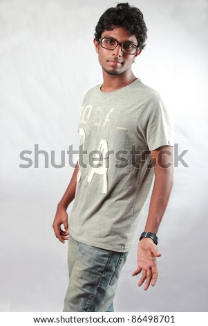 Fashion portrait of a young Indian teenager - stock photo