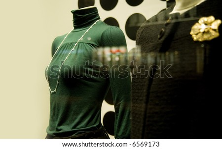 Fashion retail store window display - stock photo