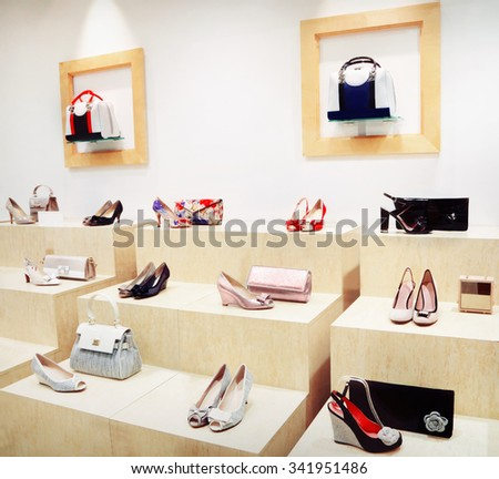 Fashion shoes and bags - stock photo
