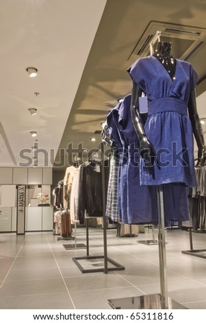 fashion shop - stock photo