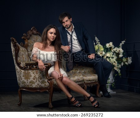 Fashion Style Photo Of An Attractive Young Couple - stock photo