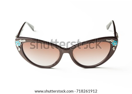 Fashion sunglasses isolated on white