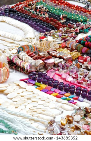 Fashion - Various pieces of jewelry - Necklaces and bracelets / Jewelry - Necklaces and bracelets - stock photo