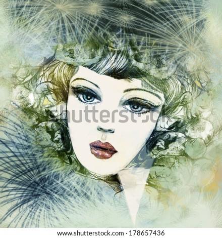 stock photo women autumn illustrations erotic nature imagine texture love cards
