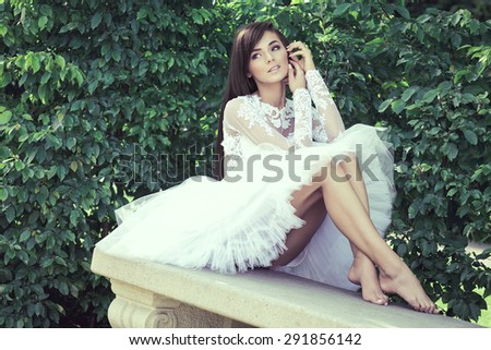 Fashion woman posing  - stock photo