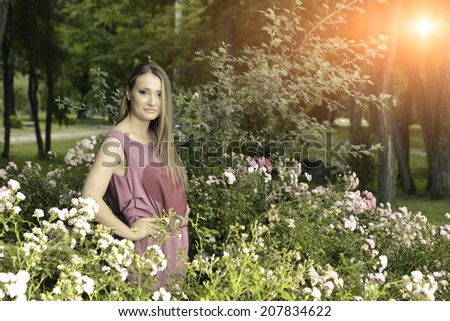 Fashion women summer portrait