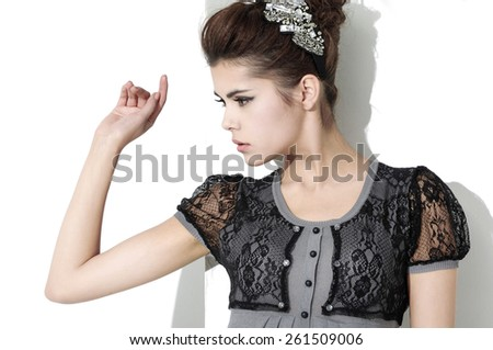 Fashion young woman portrait ,Theme: beauty, fashion - stock photo