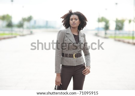 Fashionable African American female - stock photo