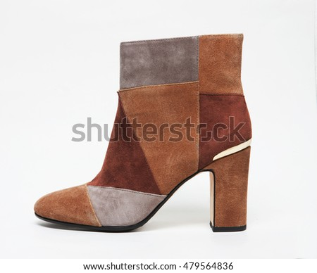 fashionable and elegant women shoe isolated with shadows