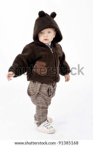 fashionable boy - stock photo