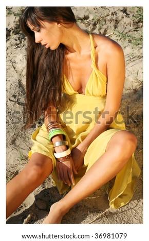 Fashionable Girl - stock photo