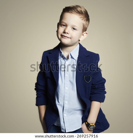 fashionable little boy.stylish child in suit. fashion children.business kids - stock photo